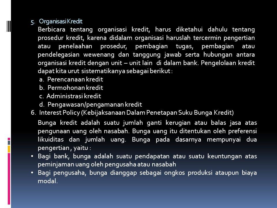 5. Organisasi Kredit