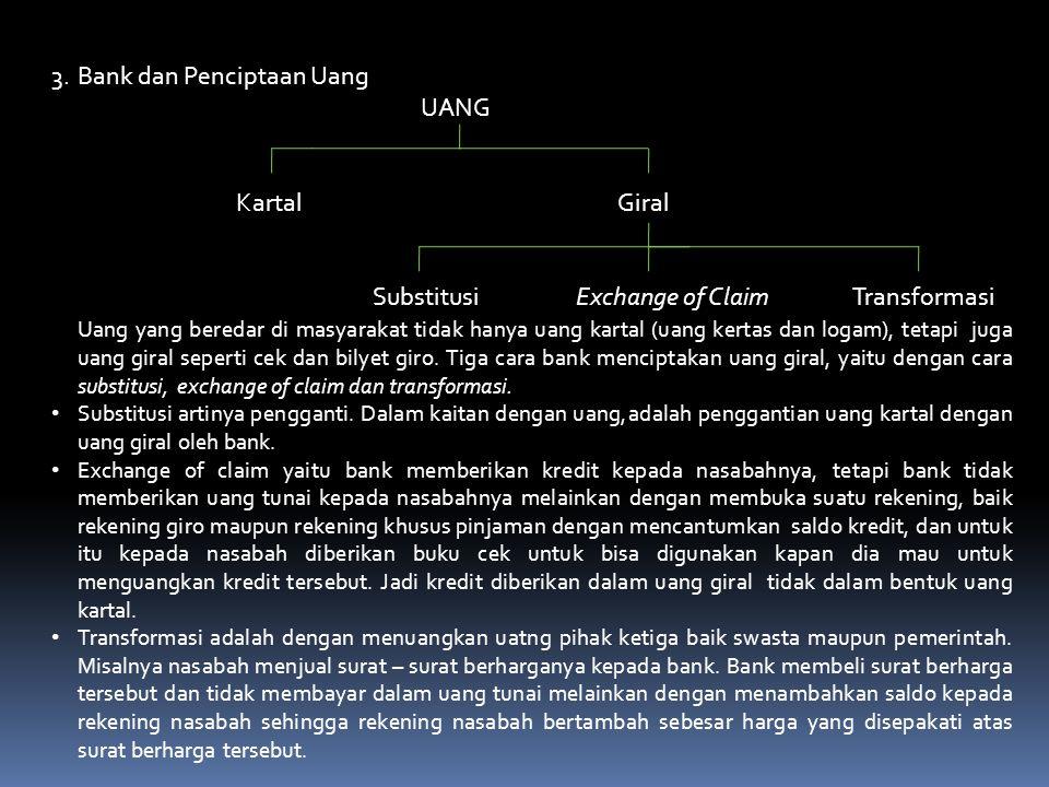 3. Bank dan Penciptaan Uang UANG