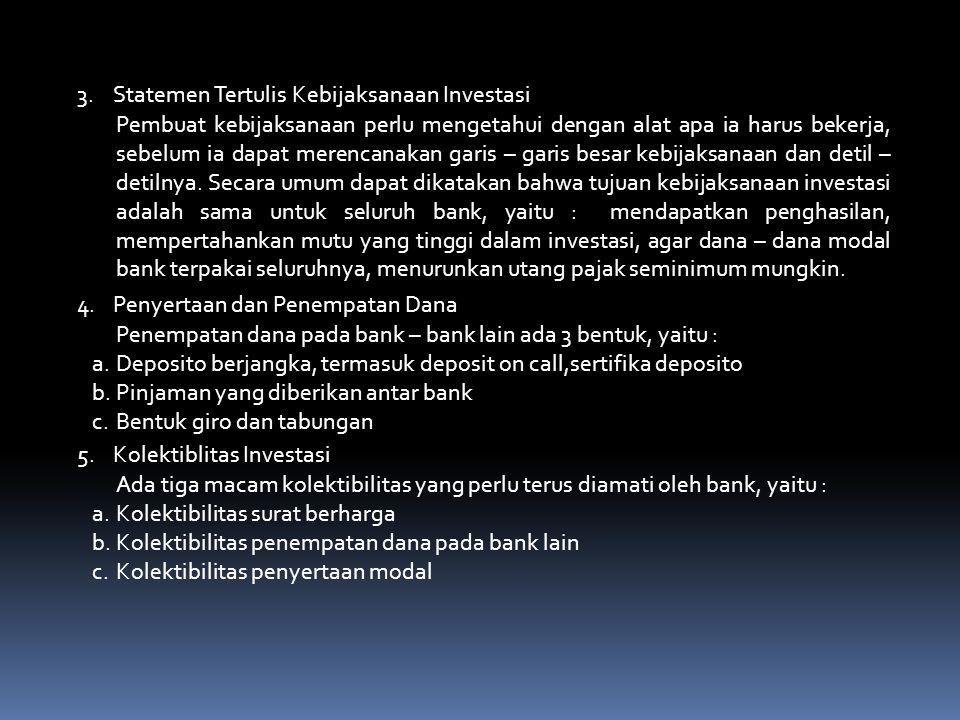 3. Statemen Tertulis Kebijaksanaan Investasi