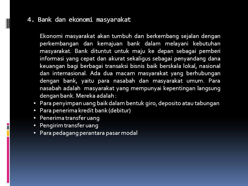 4. Bank dan ekonomi masyarakat