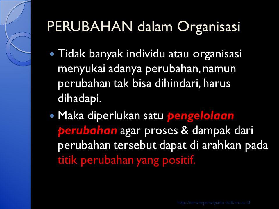 PERUBAHAN dalam Organisasi