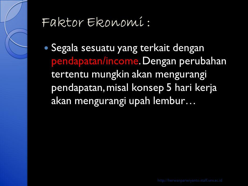 Faktor Ekonomi :