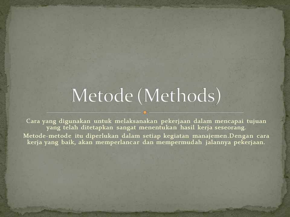 Metode (Methods)