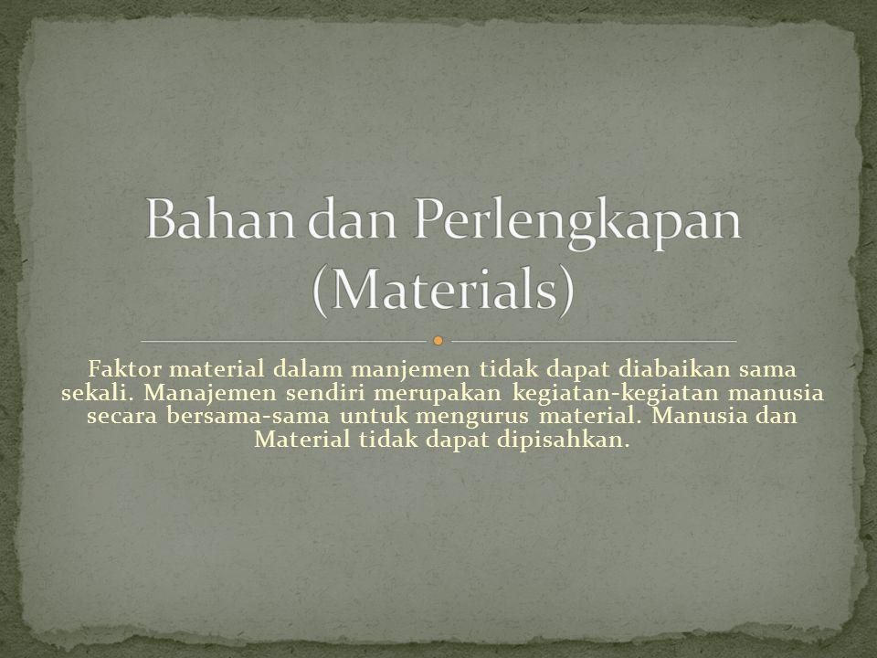Bahan dan Perlengkapan (Materials)