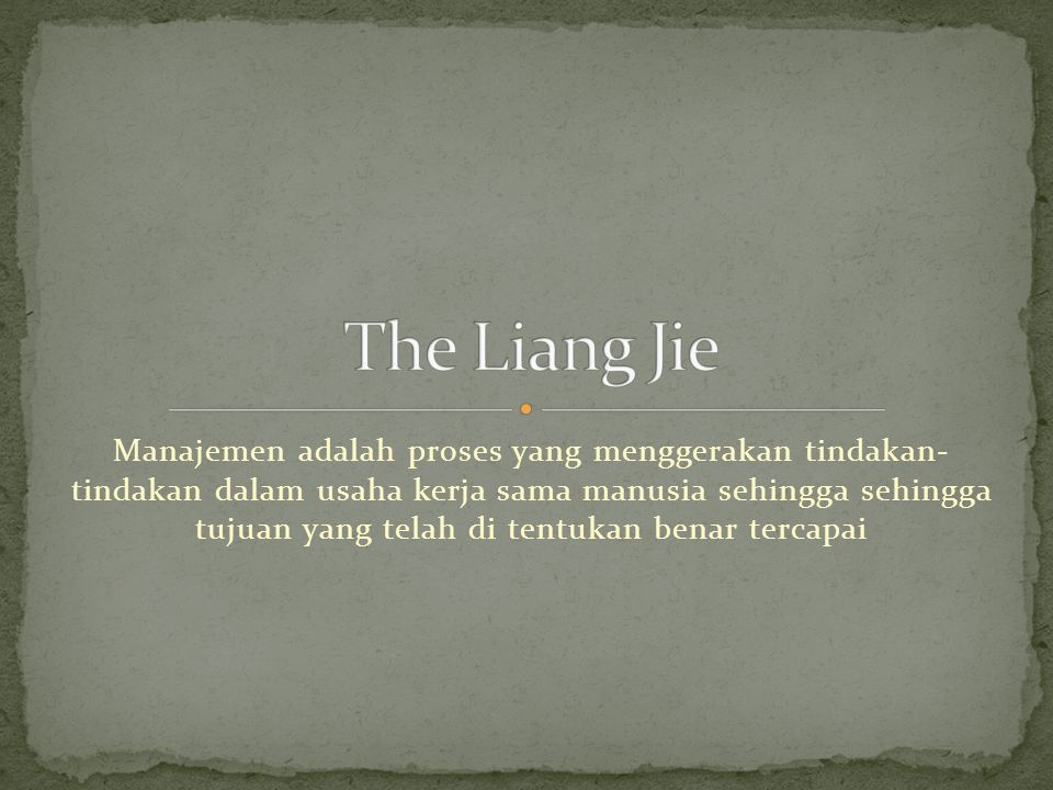 The Liang Jie