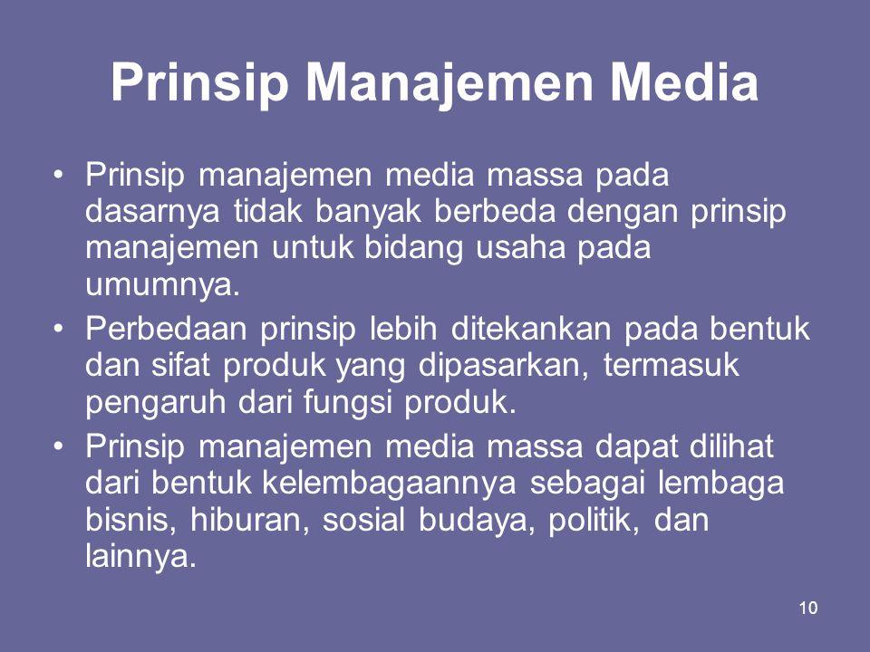 Prinsip Manajemen Media