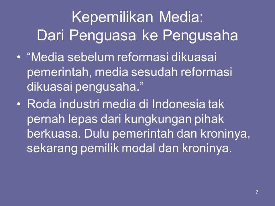 Kepemilikan Media: Dari Penguasa ke Pengusaha