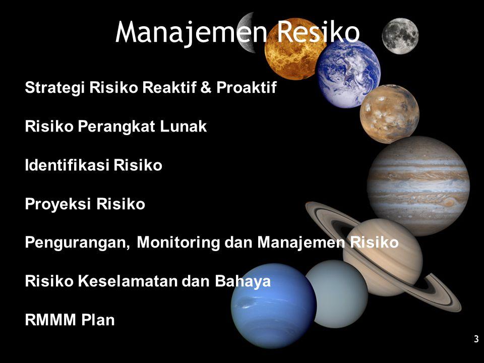 Manajemen Resiko Strategi Risiko Reaktif & Proaktif