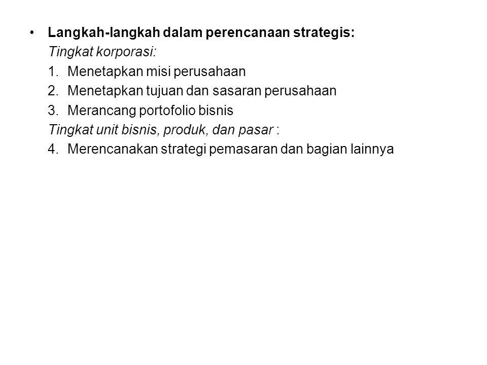 Langkah-langkah dalam perencanaan strategis: