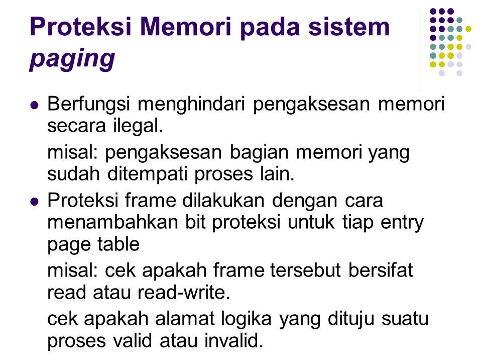 Proteksi Memori pada sistem paging