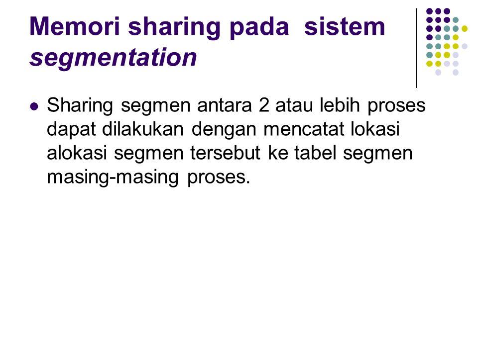 Memori sharing pada sistem segmentation