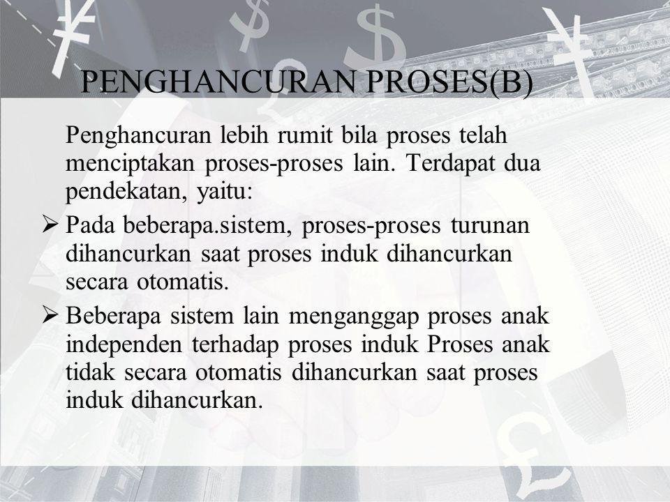 PENGHANCURAN PROSES(B)