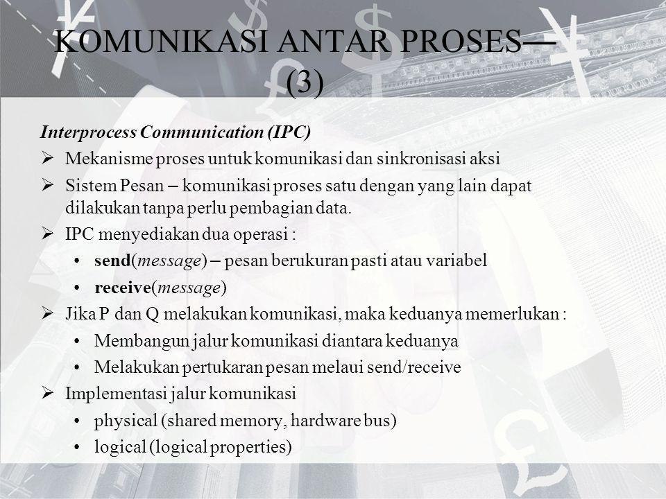 KOMUNIKASI ANTAR PROSES—(3)
