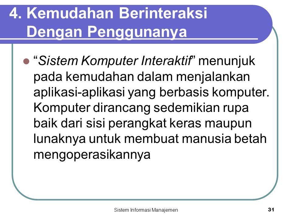 4. Kemudahan Berinteraksi Dengan Penggunanya