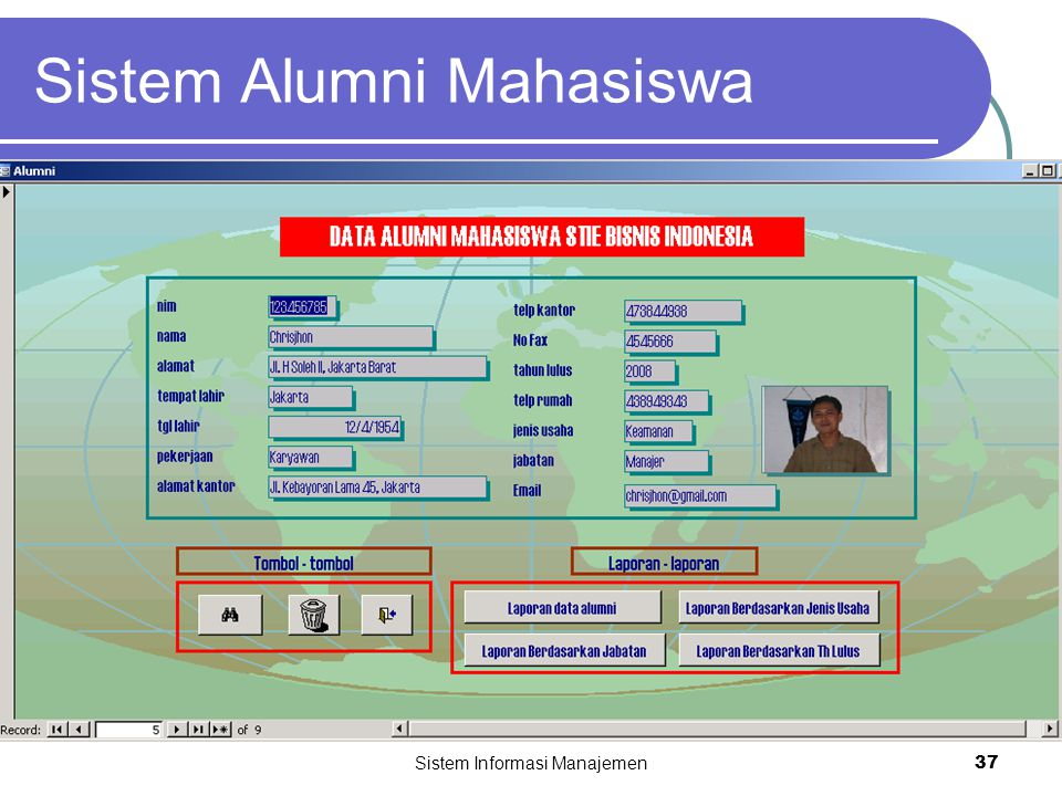 Sistem Alumni Mahasiswa