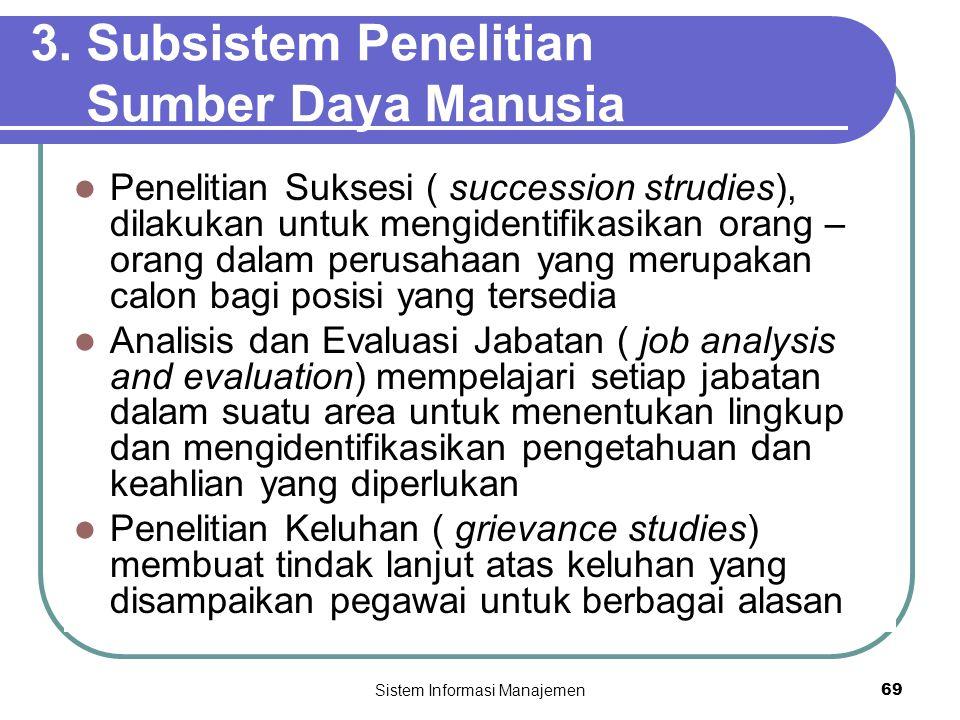 3. Subsistem Penelitian Sumber Daya Manusia