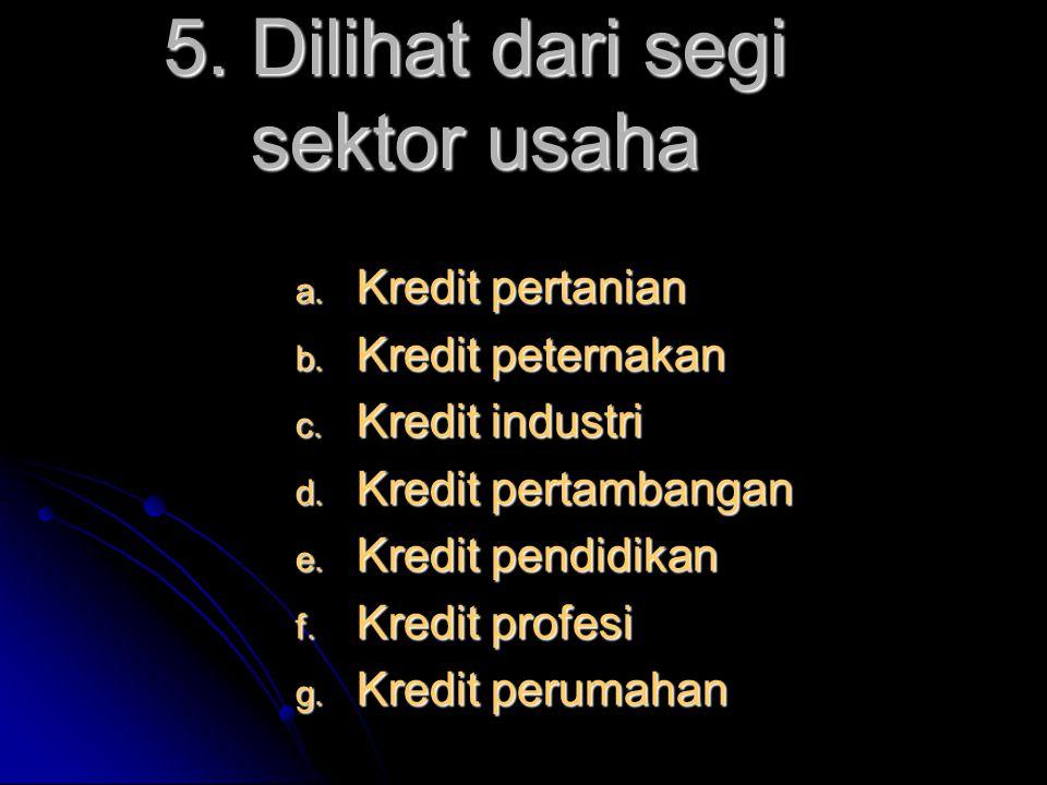 5. Dilihat dari segi sektor usaha