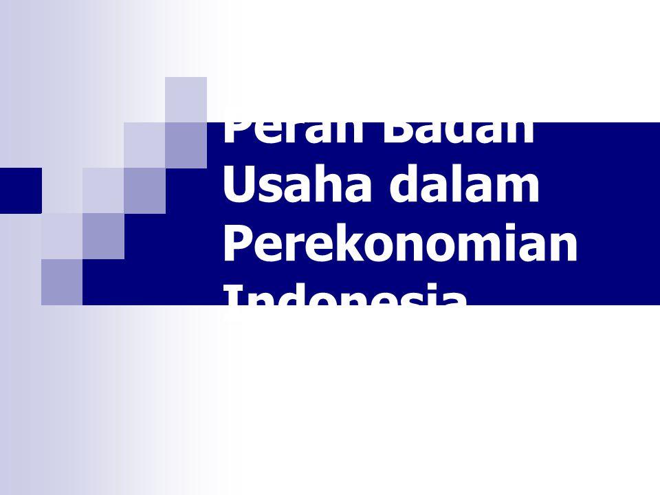 Peran Badan Usaha dalam Perekonomian Indonesia