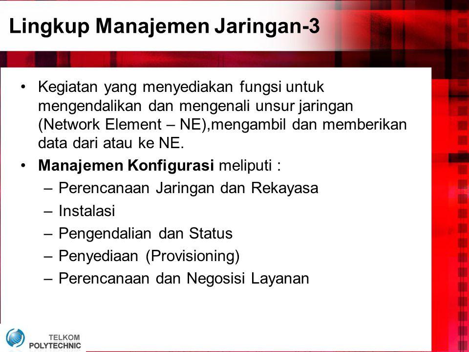 Lingkup Manajemen Jaringan-3
