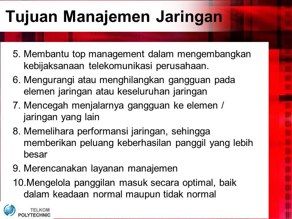 Tujuan Manajemen Jaringan