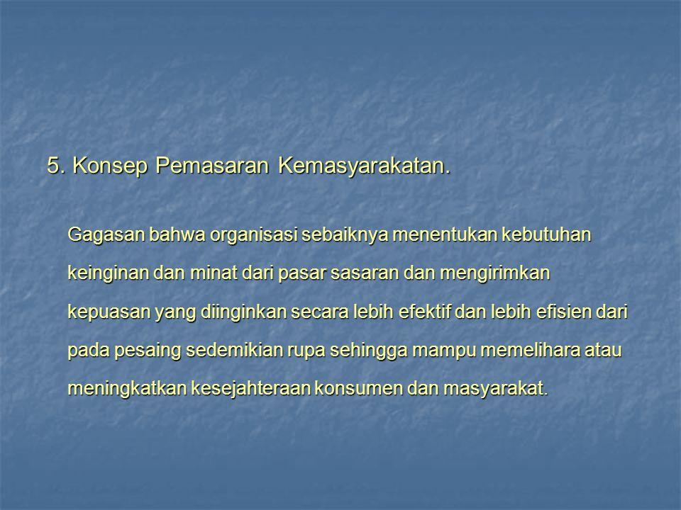 5. Konsep Pemasaran Kemasyarakatan.