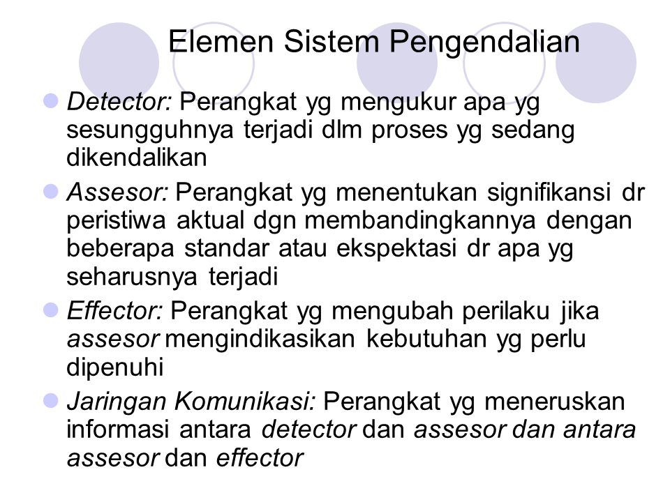 Elemen Sistem Pengendalian