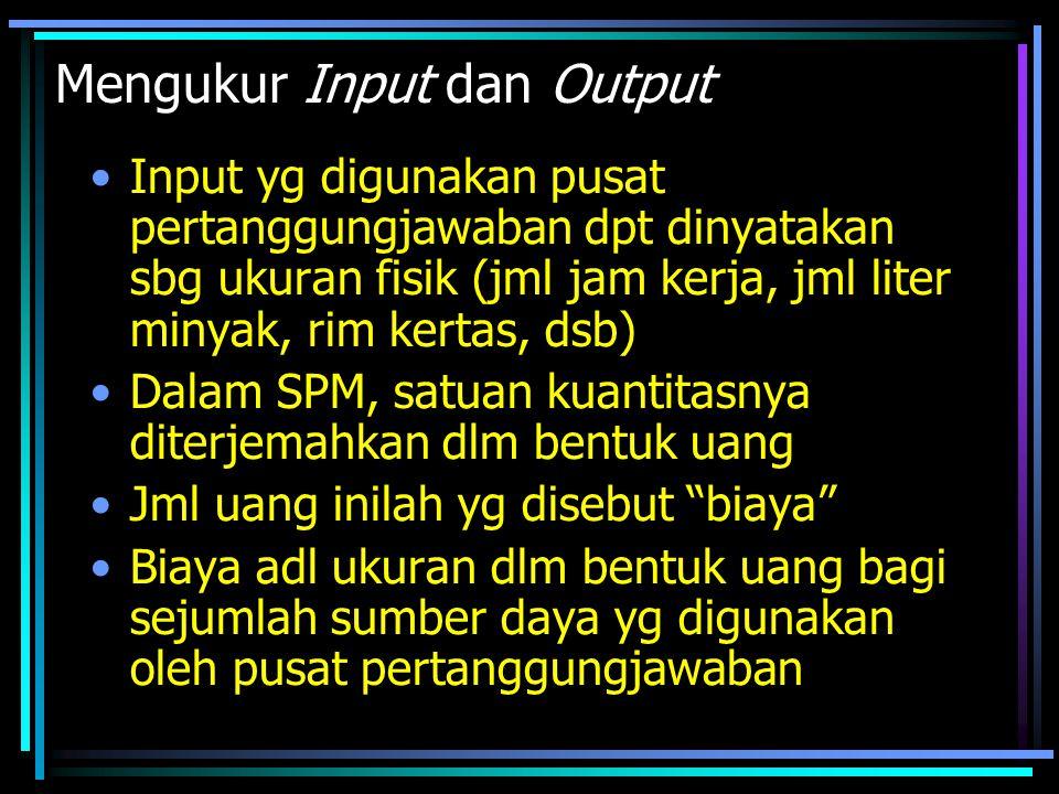 Mengukur Input dan Output
