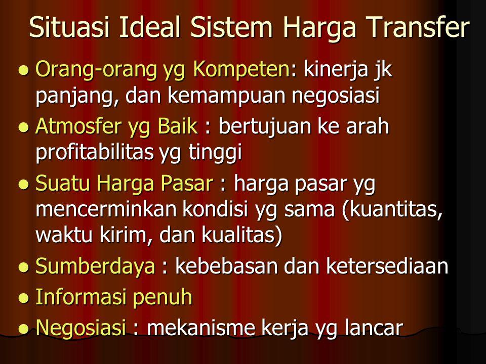 Situasi Ideal Sistem Harga Transfer