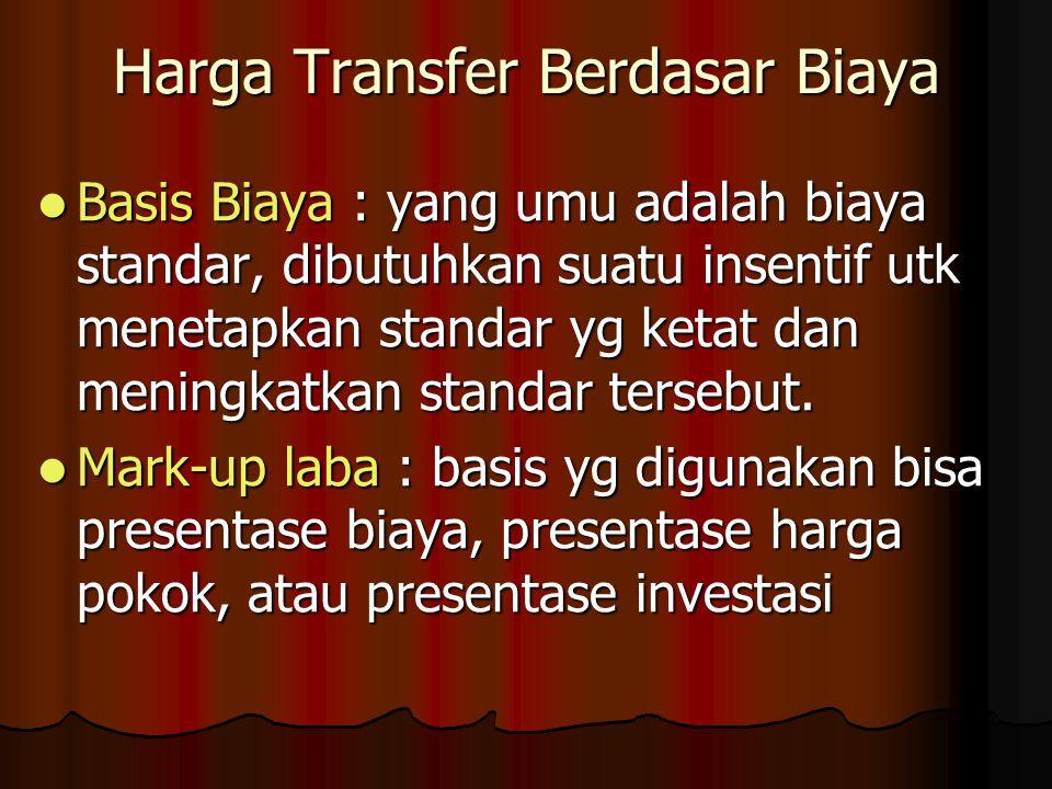 Harga Transfer Berdasar Biaya