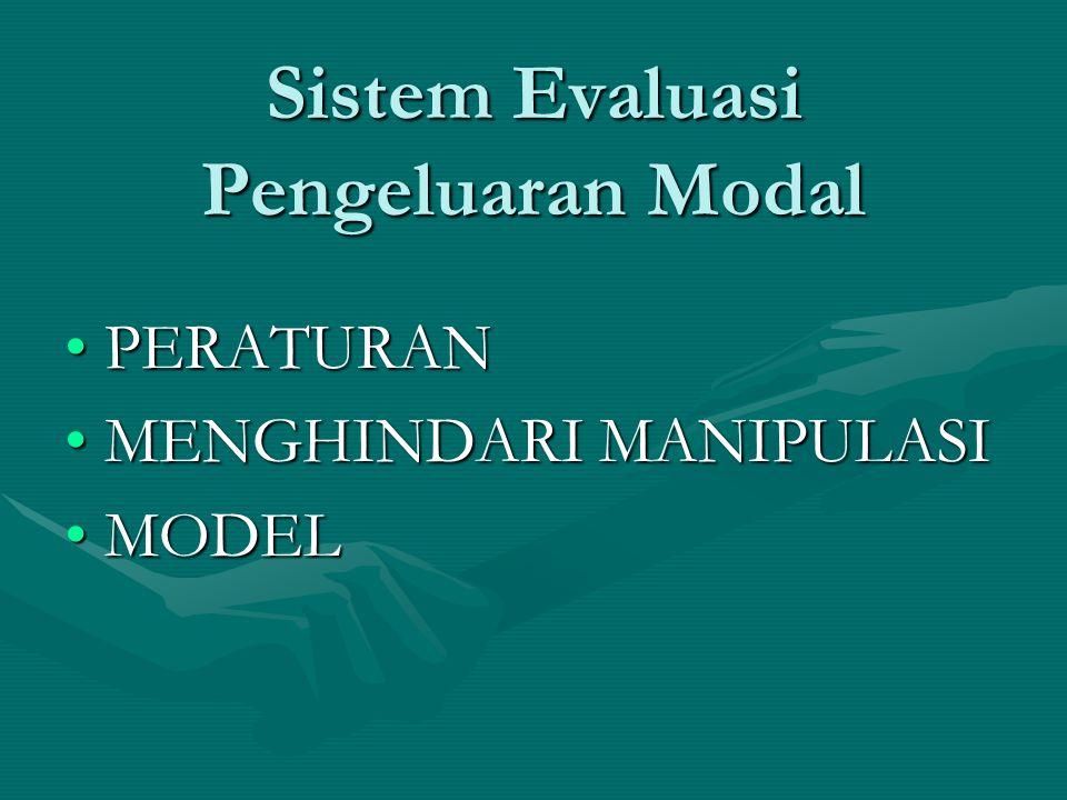 Sistem Evaluasi Pengeluaran Modal