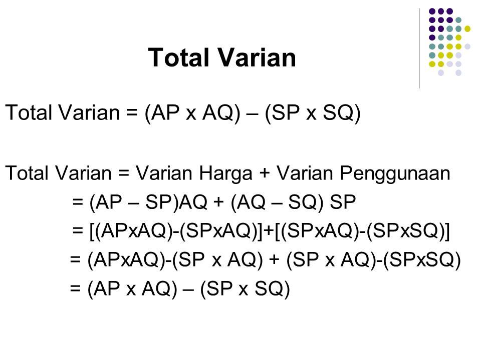Total Varian Total Varian = (AP x AQ) – (SP x SQ)