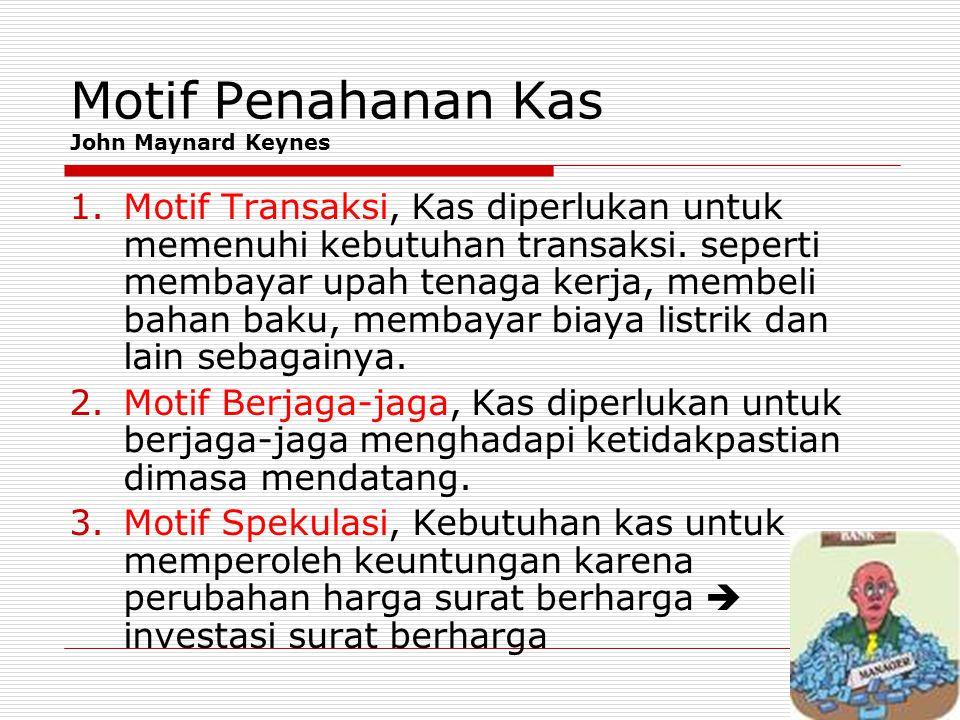 Motif Penahanan Kas John Maynard Keynes