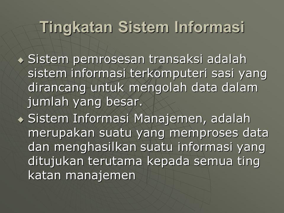 Tingkatan Sistem Informasi