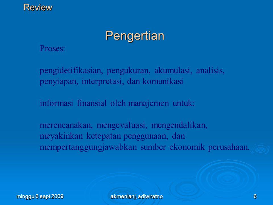 informasi finansial oleh manajemen untuk: