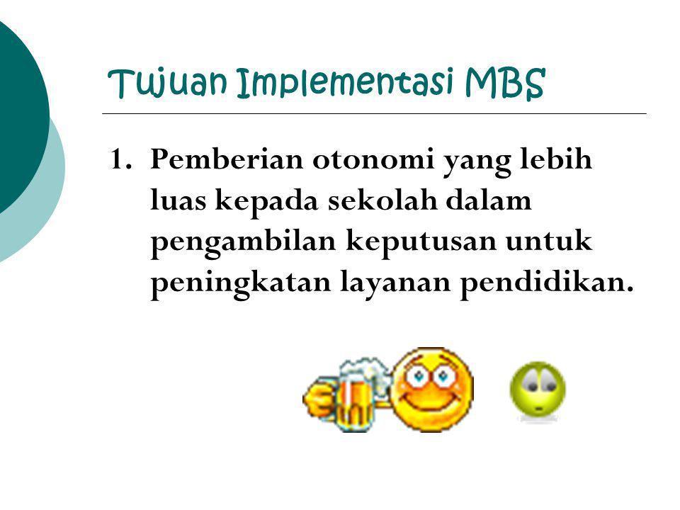 Tujuan Implementasi MBS