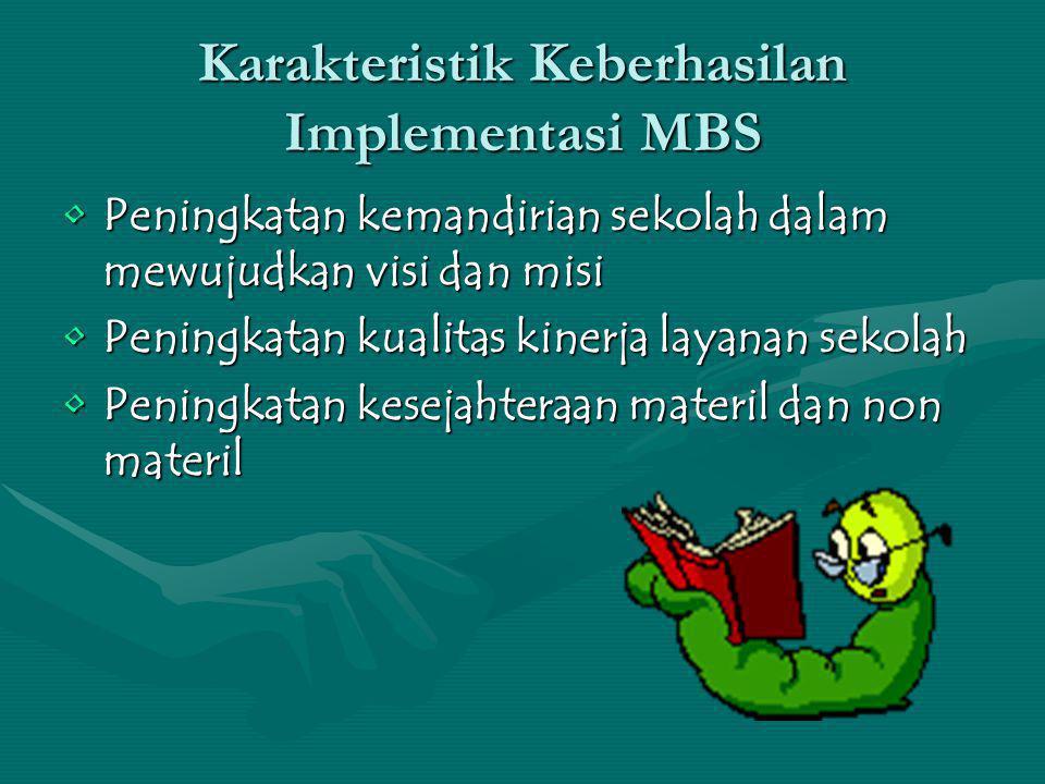 Karakteristik Keberhasilan Implementasi MBS