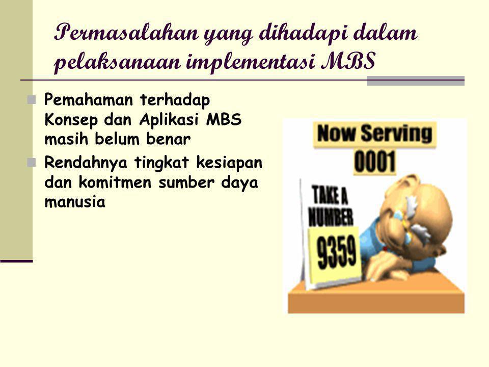 Permasalahan yang dihadapi dalam pelaksanaan implementasi MBS