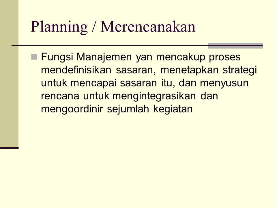 Planning / Merencanakan