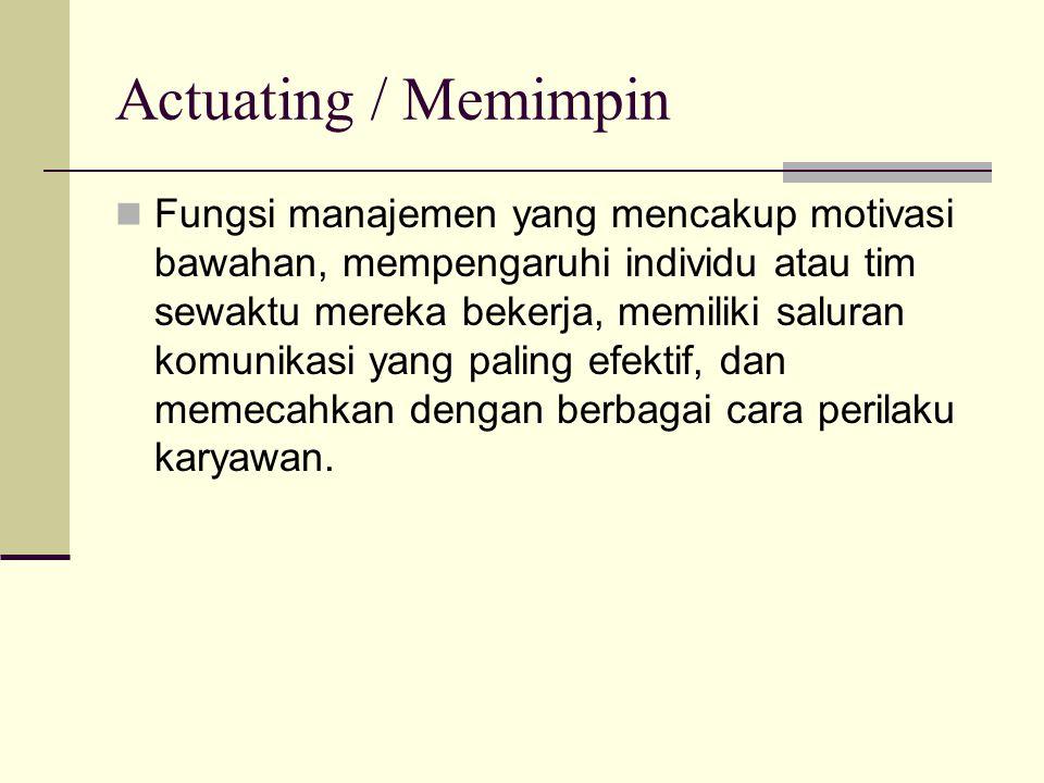 Actuating / Memimpin