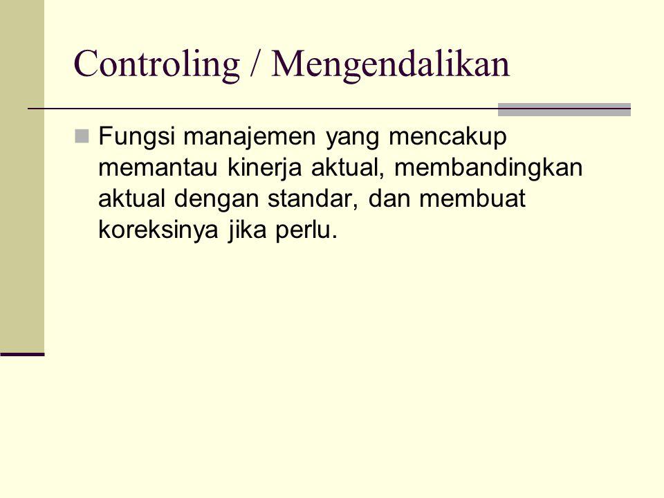 Controling / Mengendalikan