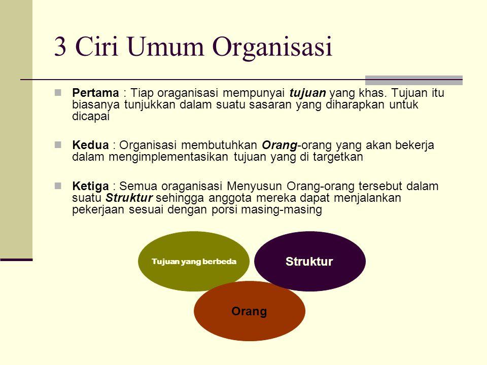 3 Ciri Umum Organisasi