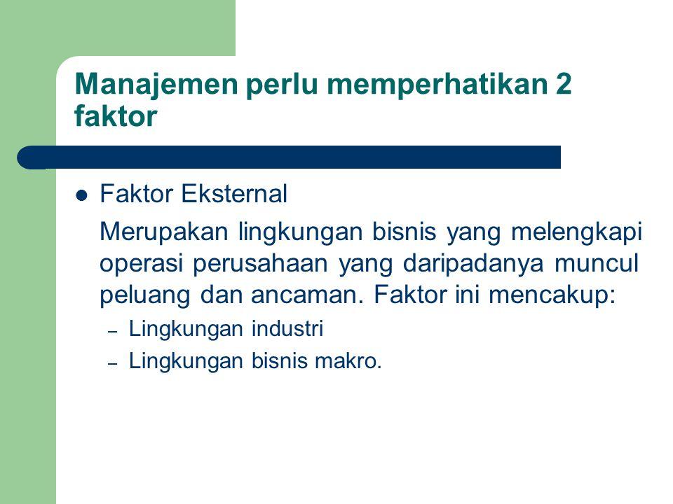 Manajemen perlu memperhatikan 2 faktor