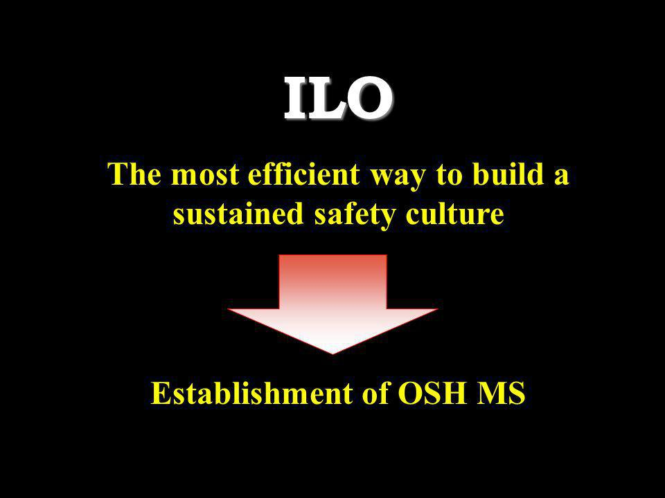 ILO The most efficient way to build a sustained safety culture