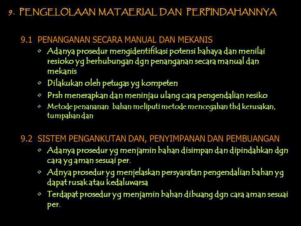 9. PENGELOLAAN MATAERIAL DAN PERPINDAHANNYA
