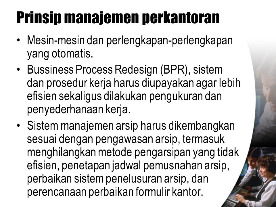 Prinsip manajemen perkantoran