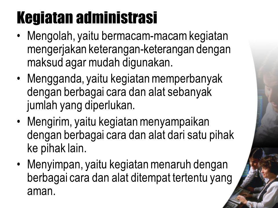 Kegiatan administrasi
