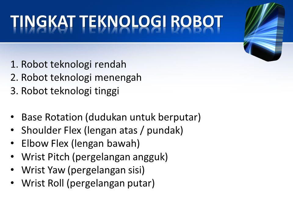TINGKAT TEKNOLOGI ROBOT