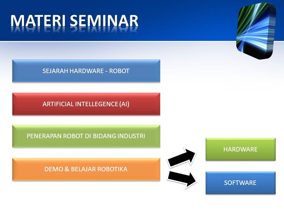 MATERI SEMINAR SEJARAH HARDWARE - ROBOT ARTIFICIAL INTELLEGENCE (AI)