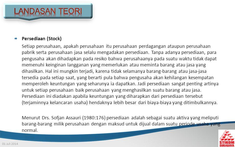 LANDASAN TEORI Persediaan (Stock)