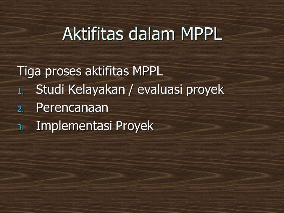 Aktifitas dalam MPPL Tiga proses aktifitas MPPL
